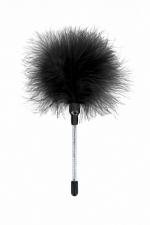 Plumeau à caresses noir - Sweet Caress : Mini plumeau à caresses en plumes de dinde, pour stimuler les zones érogènes de votre chéri(e).