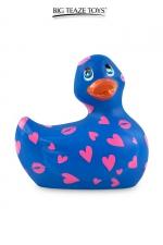 Mini canard vibrant Romance bleu et rose : Déclinaison bleu et rose du célèbre canard vibrant dans la collection Romance.  I Rub My Duckie est désormais en version 2.0.