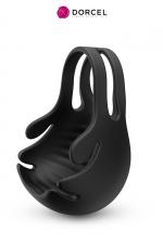 Stimulateur pénien vibrant Fun bag - Dorcel : stimulateur et cockring vibrant pour testicules et pénis qui renforce l'érection et retarde l'éjaculation.