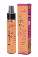 Gel Sexe Oral Crazy Girl - Caramel Kiss : Gel intime pour rapport oral (fellation ou cunnilingus) parfum Caramel Kiss, pour le plus grand plaisir des deux partenaires.