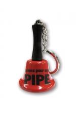 Porte clé clochette - sonnez pour une pipe