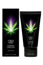 Lubrifiant retardant eau et CBD 50ml : Lubrifiant intime  à base d'eau et de CBD avec effet anesthésiant pour faire durer le plaisir.