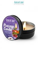 Bougie de massage fruit exotique - Amoreane : Bougie de massage qui offre un parfait environnement chaud et sensuel pour vos moments intimes. Parfum Fruits Exotiques.